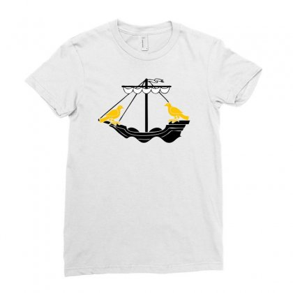 Boat Of Lisboa Lisbon Ladies Fitted T-shirt Designed By Mdk Art