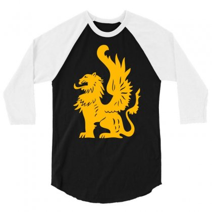 Griffin Griffon Gryphon 3/4 Sleeve Shirt Designed By Mdk Art