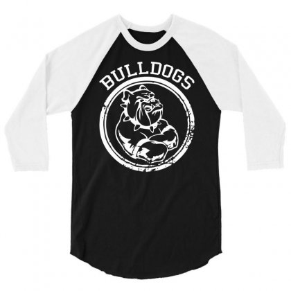 Bulldog Sports Team 3/4 Sleeve Shirt Designed By Mdk Art