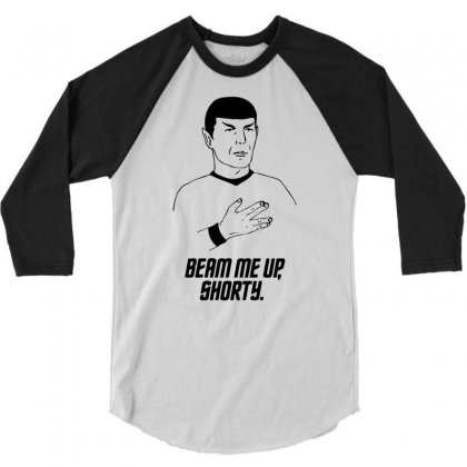 Beam Me Up Shorty 3/4 Sleeve Shirt Designed By Ditreamx