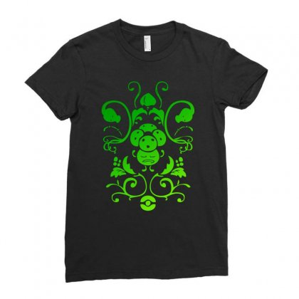 Grass Type Ladies Fitted T-shirt Designed By Mdk Art