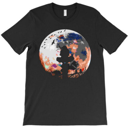 Fighter On The Moon T-shirt Designed By Frizidan