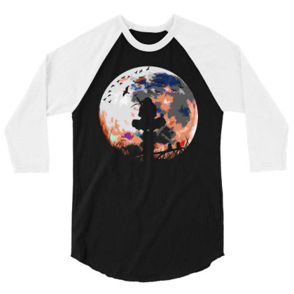Fighter On The Moon 3/4 Sleeve Shirt Designed By Frizidan