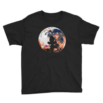 Fighter On The Moon Youth Tee Designed By Frizidan