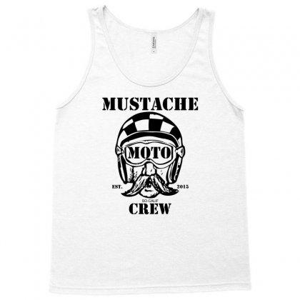 Mustache Moto Crew Tank Top Designed By Mdk Art