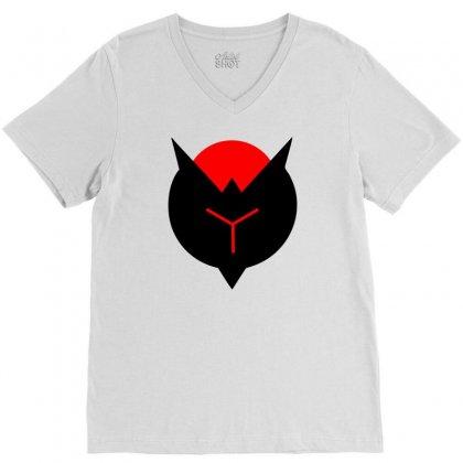 Crimson Reject V-neck Tee Designed By Mdk Art