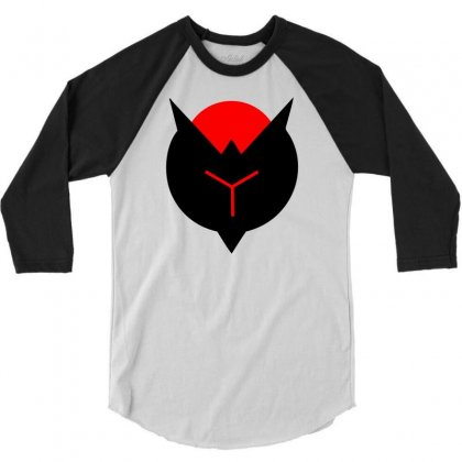 Crimson Reject 3/4 Sleeve Shirt Designed By Mdk Art