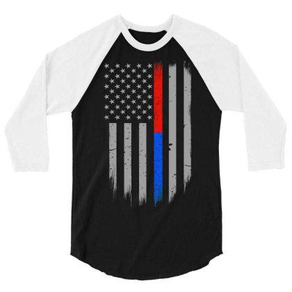 Trump Thin Red Blue Line 3/4 Sleeve Shirt Designed By Kakashop