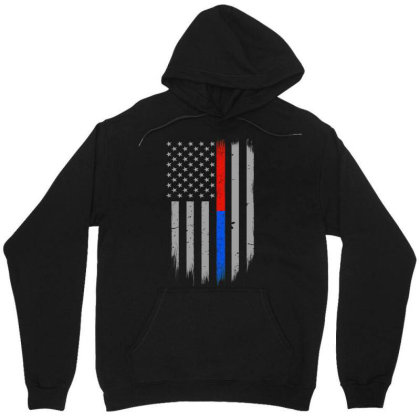 Trump Thin Red Blue Line Unisex Hoodie Designed By Kakashop