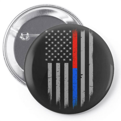 Trump Thin Red Blue Line Pin-back Button Designed By Kakashop