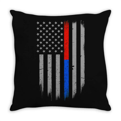 Trump Thin Red Blue Line Throw Pillow Designed By Kakashop