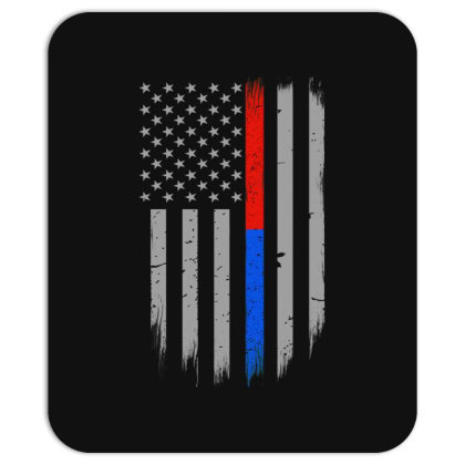 Trump Thin Red Blue Line Mousepad Designed By Kakashop