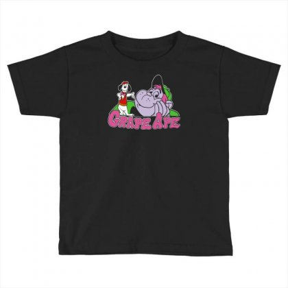 Rare Vintage 1994 Grape Ape Hanna Barbera Toddler T-shirt Designed By Apuy