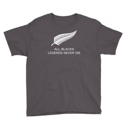 Rip Jonah Lomu All Black Never Die Youth Tee Designed By Apuy