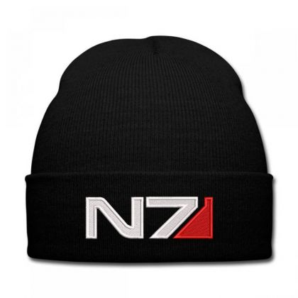 Mass Effect N7 Logo Embroidered Hat Knit Cap Designed By Madhatter