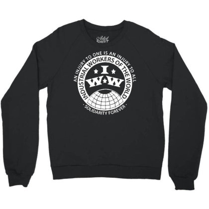 Workers Of The World Crewneck Sweatshirt Designed By Blqs Apparel