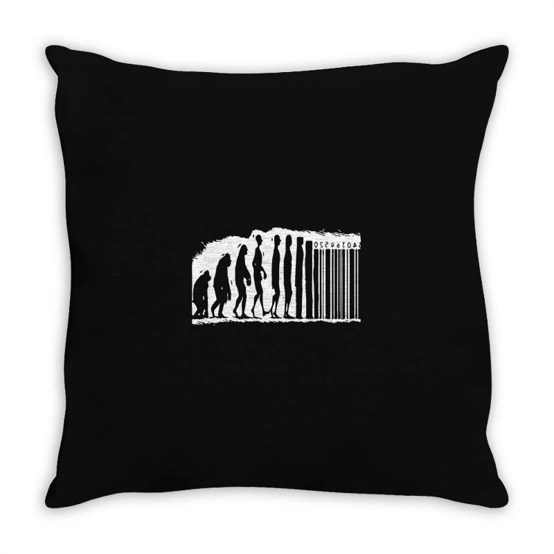 Evolution Barcode Throw Pillow | Artistshot
