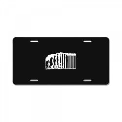 evolution barcode License Plate | Artistshot