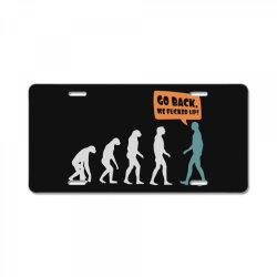 evolution   go back License Plate   Artistshot