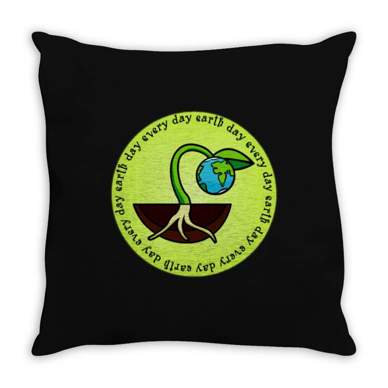 Earth Day Every Day Throw Pillow | Artistshot