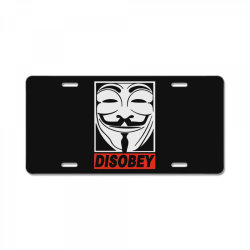 disobey anonymous License Plate | Artistshot