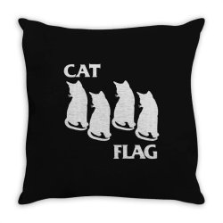 cat flag Throw Pillow | Artistshot