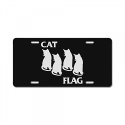cat flag License Plate | Artistshot