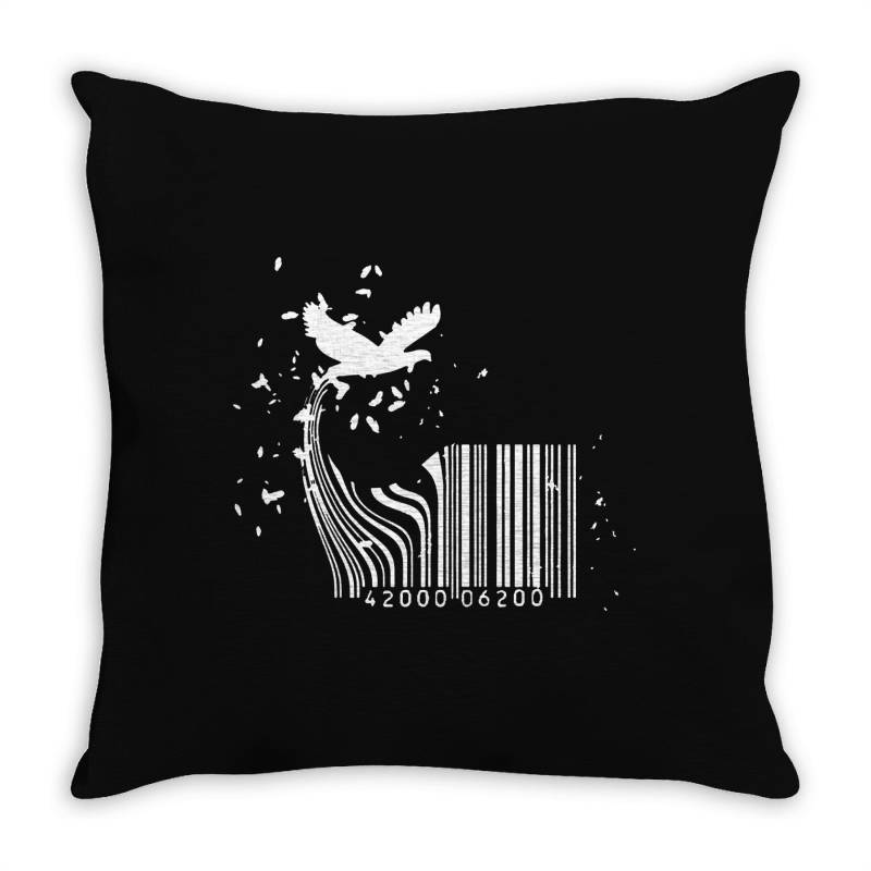 Bird Barcode Throw Pillow | Artistshot