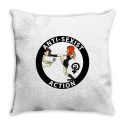 anti sexist action Throw Pillow | Artistshot