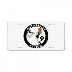 anti sexist action License Plate | Artistshot