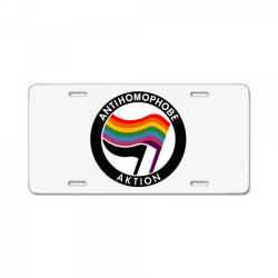 antihomophobe aktion License Plate | Artistshot