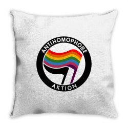 antihomophobe aktion Throw Pillow | Artistshot