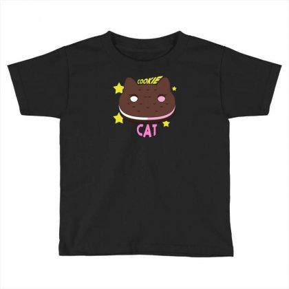 Cookie Cat Toddler T-shirt Designed By Thesamsat