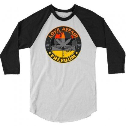 Love Affair Freedom 3/4 Sleeve Shirt Designed By Ditreamx