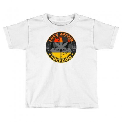 Love Affair Freedom Toddler T-shirt Designed By Ditreamx
