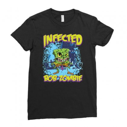 Infected Bob Zombie Ladies Fitted T-shirt Designed By Ditreamx