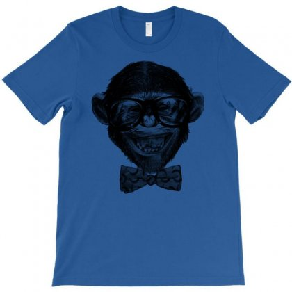 Chimp Grin T-shirt Designed By Chilistore