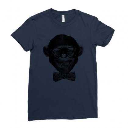 Chimp Grin Ladies Fitted T-shirt Designed By Chilistore