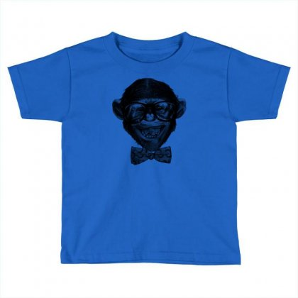 Chimp Grin Toddler T-shirt Designed By Chilistore