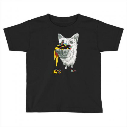 Cube Dog Toddler T-shirt Designed By Chilistore