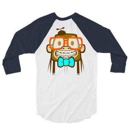 Geek Monkey 3/4 Sleeve Shirt Designed By Chilistore