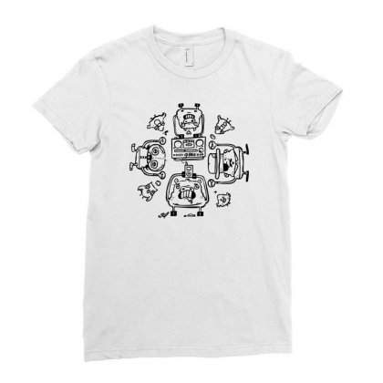Piggy Affection Ladies Fitted T-shirt Designed By Thesamsat