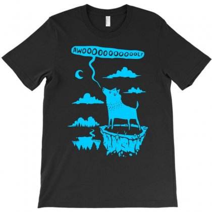 Awooolf Growl T-shirt Designed By Thesamsat