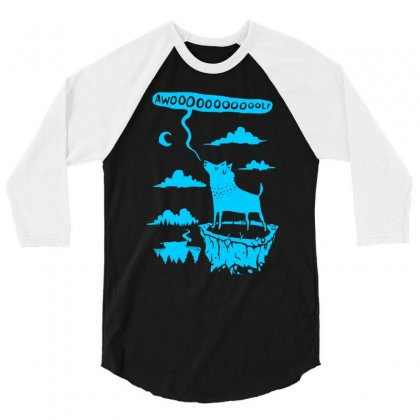 Awooolf Growl 3/4 Sleeve Shirt Designed By Thesamsat