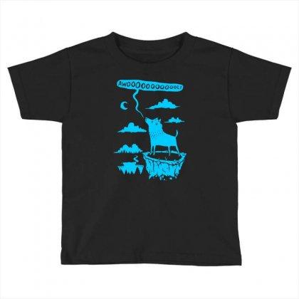 Awooolf Growl Toddler T-shirt Designed By Thesamsat