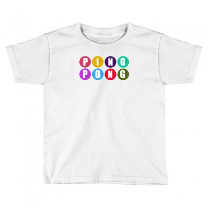 Ping Pong Toddler T-shirt Designed By Thesamsat