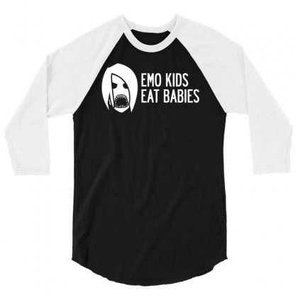 Emo Kids Eat Babies 3/4 Sleeve Shirt Designed By Specstore
