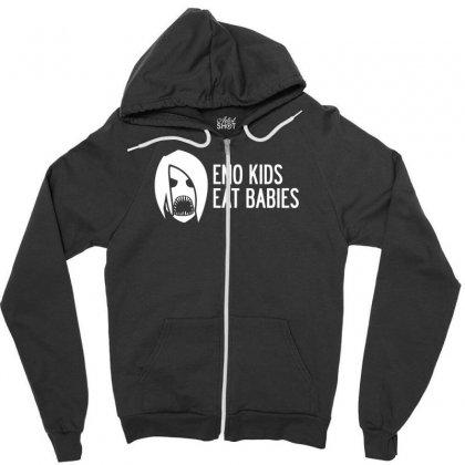 Emo Kids Eat Babies Zipper Hoodie Designed By Specstore