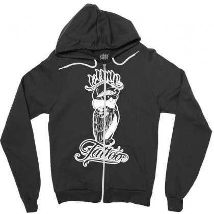 Fame Tattoo Zipper Hoodie Designed By Specstore