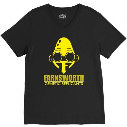Farnsworth Genetic Replicants V-neck Tee Designed By Specstore